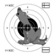 Мишень Волк 14х14 см