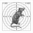 Мишень Крыса 14х14 см