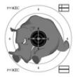 Мишень Носорог 14х14 см