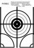 Универсальная пристрелочная мишень для гладкоствольного оружия